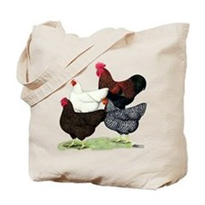 Plymouth Rock Chickens Tote Bag