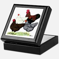 Plymouth Rock Chickens Keepsake Box