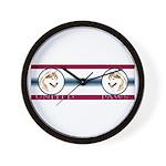 Siberian Husky United Paws Wall Clock
