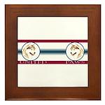 Siberian Husky United Paws Framed Tile
