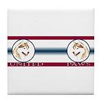 Siberian Husky United Paws Tile Coaster