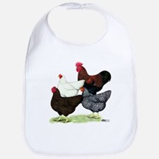 Plymouth Rock Chickens Bib