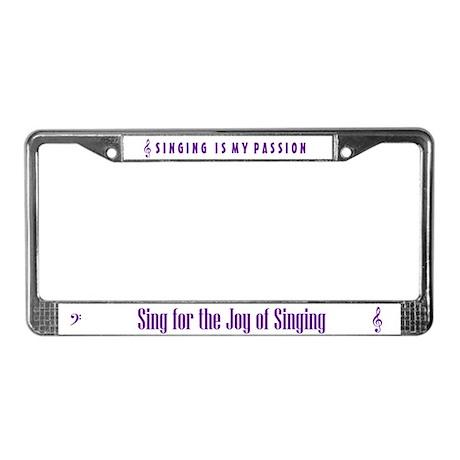 Sing License Plate Frame