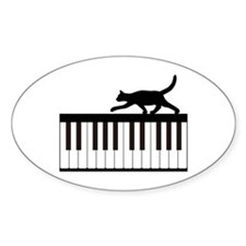 Cat and Piano v.1 Decal