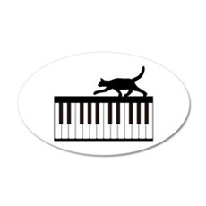 Cat and Piano v.1 Wall Decal