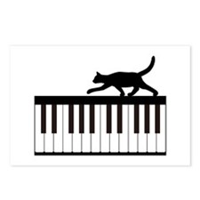 Cat and Piano v.1 Postcards (Package of 8)
