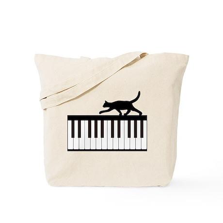 Cat and Piano v.1 Tote Bag