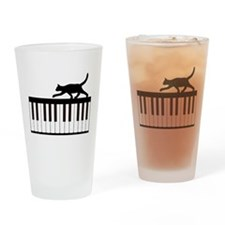 Cat and Piano v.1 Drinking Glass