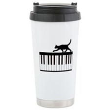 Cat and Piano v.1 Travel Mug