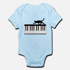 Cat and Piano v.1 Infant Bodysuit