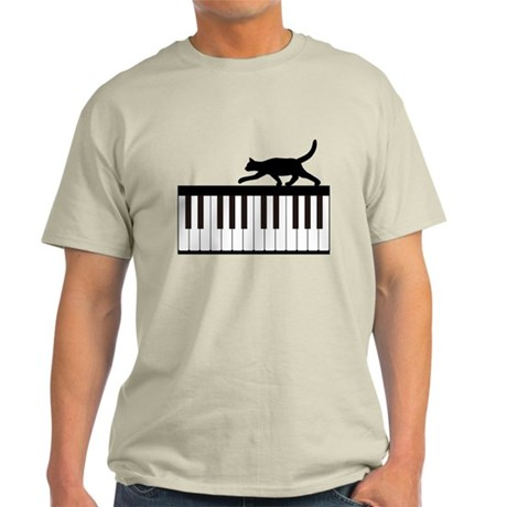 Cat and Piano v.1 Light T-Shirt