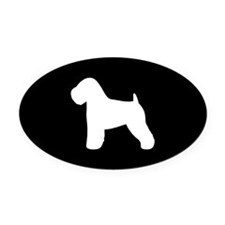 Wheaten Terrier Oval Car Magnet