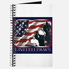 Siberian Huskies US Flag Journal