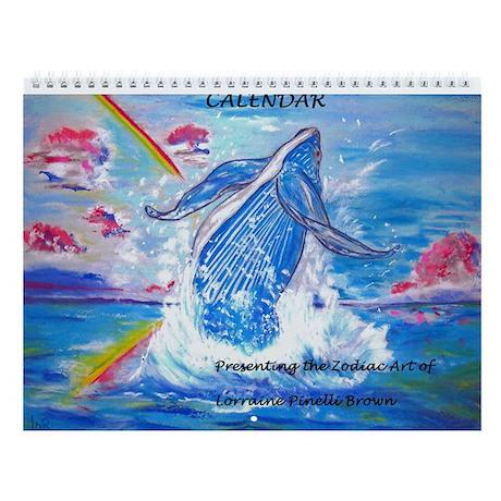 Zodiac Art Wall Calendar