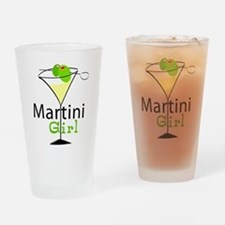 Martini Girl Drinking Glass