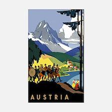 Austria Band Sticker (Rectangle)