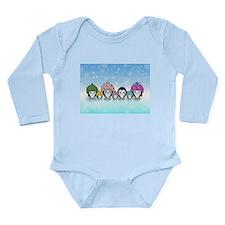 Penquin Family Long Sleeve Infant Bodysuit