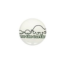 SAVE THE TURTLES! Mini Button (10 pack)