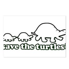 SAVE THE TURTLES! Postcards (Package of 8)