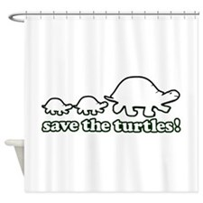 SAVE THE TURTLES! Shower Curtain