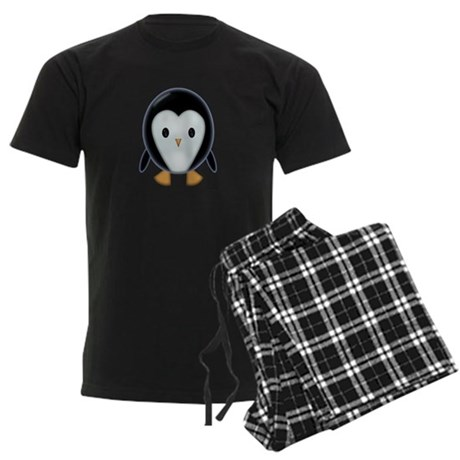Cute Little Penguin Men's Dark Pajamas