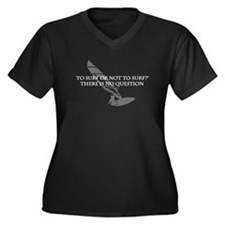 To Surf or not to Surf Women's Plus Size V-Neck Da