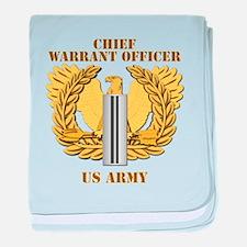 Army - Emblem - CW5 baby blanket