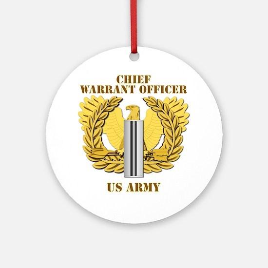 Army - Emblem - CW5 Ornament (Round)