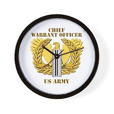 Army - Emblem - CW5 Wall Clock