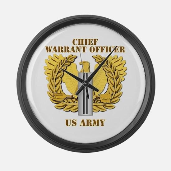 Army - Emblem - CW5 Large Wall Clock