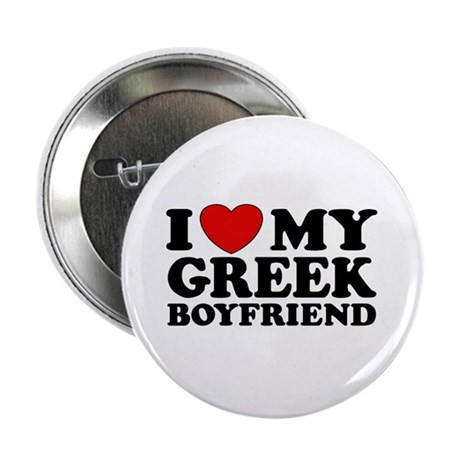 I love My Greek Boyfriend Button