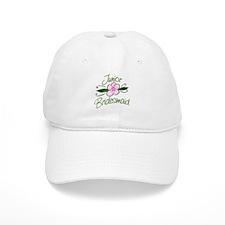 Jr. Bridesmaid Pink Flower Baseball Cap