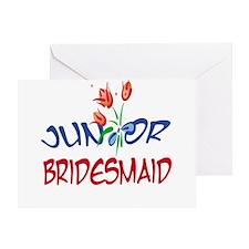 Tulip Jr. Bridesmaid Greeting Card