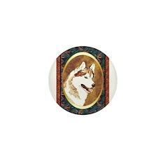 Siberian Husky Designer Mini Button