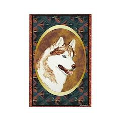Siberian Husky Designer Rectangle Magnet