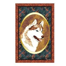 Siberian Husky Designer Postcards (Package of 8)
