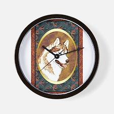 Siberian Husky Designer Wall Clock