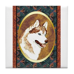 Siberian Husky Designer Tile Coaster