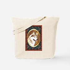 Siberian Husky Designer Tote Bag