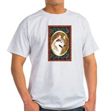 Siberian Husky Designer Ash Grey T-Shirt