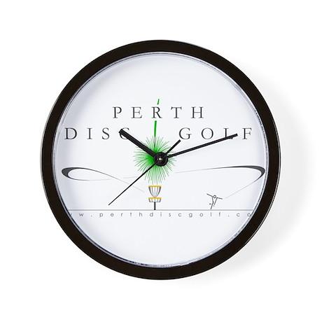 Perth Disc Golf in Colour Wall Clock