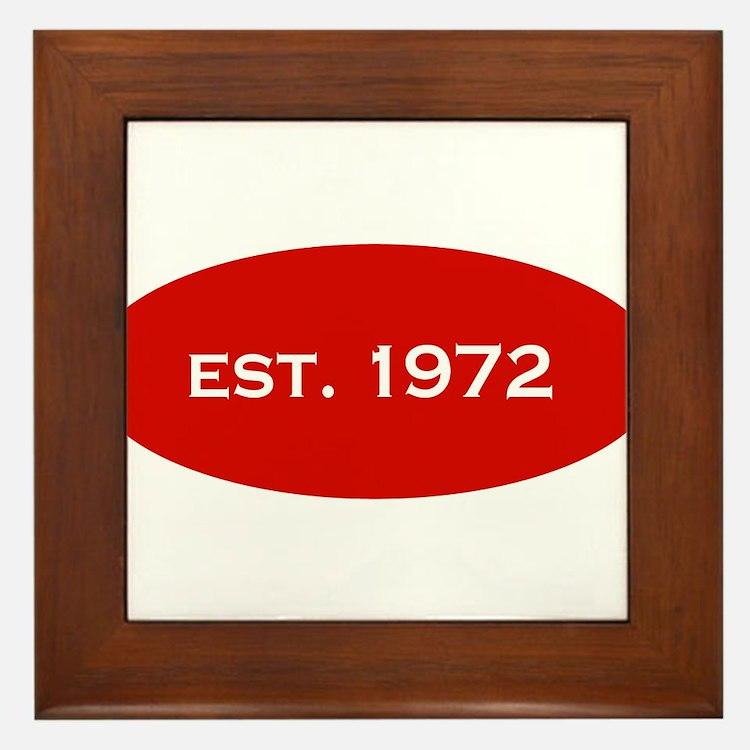 Est. 1972 Framed Tile