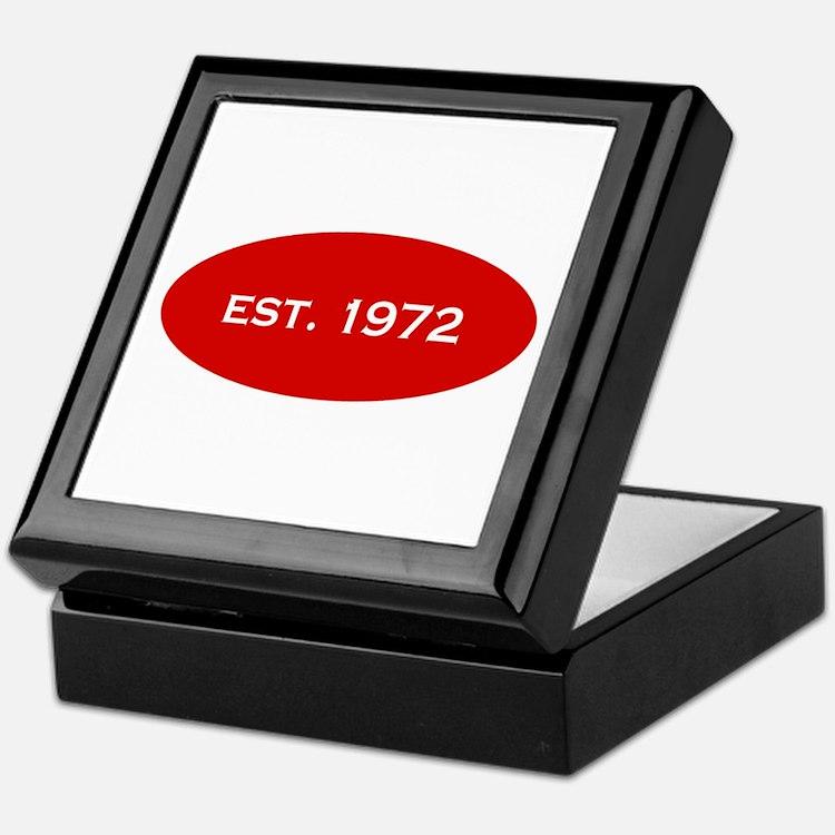 Est. 1972 Keepsake Box