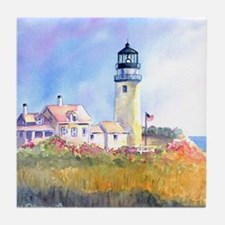 "Cape Cod Light 4.5"" Art Tile Coaster"
