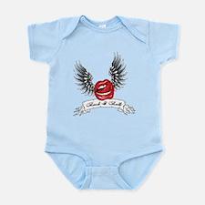 Rock N Roll Winged Lips Infant Bodysuit
