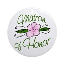 Matron of Honor Ornament (Round)