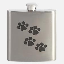 Pet Paw Prints Flask