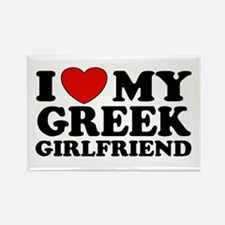 I love My Greek Girlfriend Rectangle Magnet