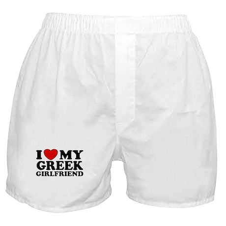 I love My Greek Girlfriend Boxer Shorts
