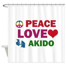 Peace Love Akido Designs Shower Curtain